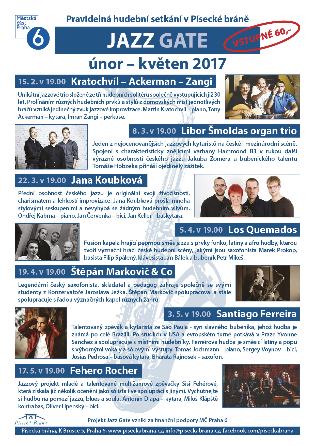 PROGRAM JAZZ GATE UNOR KVETEN 2017