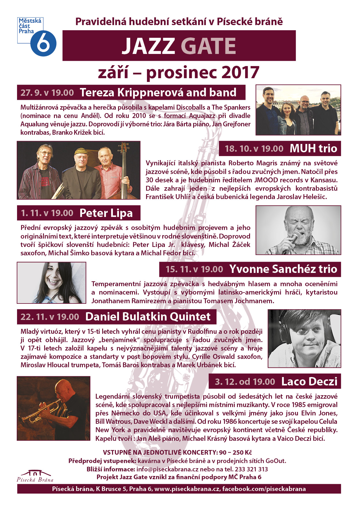 PROGRAM JAZZ GATE ZARI PROSINEC 2017